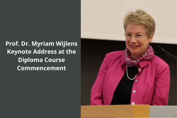 Keynote speech of Myriam Wijlens